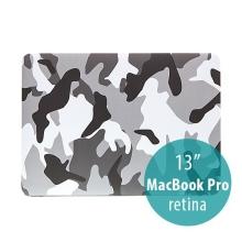 Plastový obal ENKAY pro Apple MacBook Pro 13 Retina - maskáč - šedý