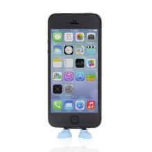 Antiprachová záslepka / stojánek 3D botky pro Apple iPhone / iPod touch mající Lightning konektor - modrá