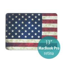 Ochranný plastový obal pro Apple MacBook Pro 13 Retina (model A1425, A1502) - retro vlajka USA