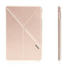 Elegantní pouzdro / kryt REMAX pro Apple iPad mini 4 - variabilní stojánek + funkce chytrého uspání - zlaté