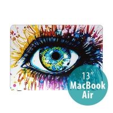 Obal pro Apple MacBook Air 13.3 plastový - barevné oko