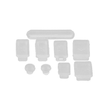 Antiprachové silikonové záslepky (sada 9ks) pro Apple MacBook, MacBook Pro a MacBook Air - průhledné
