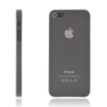 Kryt pro Apple iPhone 5 / 5S / SE - matný - plastový - tenký 0,5 mm - šedý