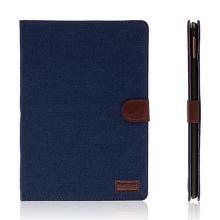Pouzdro pro Apple iPad Pro 9,7 - stojánek, funkce chytrého uspání a prostor na doklady - textilní tmavě modré