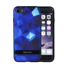 Kryt DZGOGO pro Apple iPhone 7 / 8 - plast / umělá kůže - modré tvary
