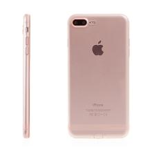 Kryt USAMS pro Apple iPhone 7 Plus / 8 Plus gumový / antiprachové záslepky - růžově zlatý / průhledný (Rose Gold)