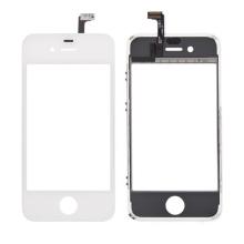 Náhradní sklo s dotykovou vrstvou (touch screen digitizer) pro Apple iPhone 4S - bílý rámeček - kvalita A
