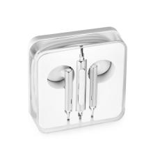 Sluchátka pro Apple iPhone / iPad a další zařízení - plastová - 3,5mm jack - bílá / stříbrná