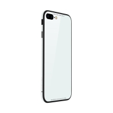 Kryt SULADA pro Apple iPhone 7 Plus / 8 Plus - kov / sklo - bílý