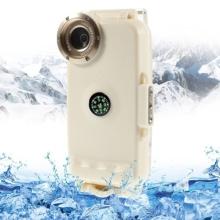 Vodotěsné pouzdro s odolností do 40m hloubky (IPX8) a kompasem pro Apple iPhone 5 / 5S / SE - bílé