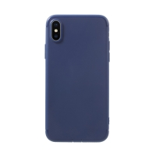 Kryt pro Apple iPhone X - gumový - tmavě modrý