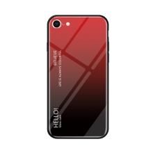 Kryt pro Apple iPhone 7 / 8 - sklo / guma - červený