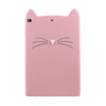 Kryt pro Apple iPad Air 1 / Air 2 / 9,7 (2017-2018) - kočka - silikonový - růžový
