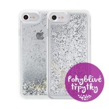 Kryt GUESS pro Apple iPhone 6 / 6S / 7 / 8 - plastový - glitter / stříbrné třpytky