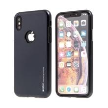Kryt MERCURY iJelly pro Apple iPhone X - výřez pro logo - gumový - černý