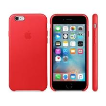 Originální kryt pro Apple iPhone 6 / 6S - kožený - červený