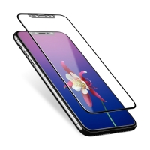 Tvrzené sklo (Tempered Glass) USAMS pro Apple iPhone X - na přední stranu - Soft Side 3D hrana - černý okraj - 0,23mm