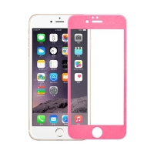 Odolné tvrzené sklo (Tempered Glass) na přední část Apple iPhone 6 / 6S (tl. 0.3mm) - růžový rámeček