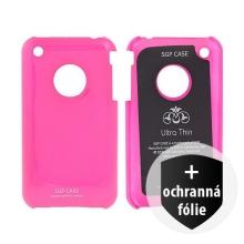 Ochranný plastový kryt SGP Ultra Thin pro Apple iPhone 3G / 3GS - tmavě růžový + ochranná fólie