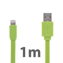 Synchronizační a nabíjecí kabel Lightning pro Apple iPhone / iPad / iPod - noodle style - zelený