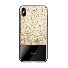 Kryt JOYROOM pro Apple iPhone X / Xs - flitry / třpytky - guma / sklo - zlatý