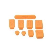 Antiprachové silikonové záslepky (sada 9ks) pro Apple MacBook, MacBook Pro a MacBook Air - oranžové