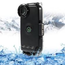Vodotěsné pouzdro s odolností do 40m hloubky (IPX8) a kompasem pro Apple iPhone 5 / 5S / SE - černé