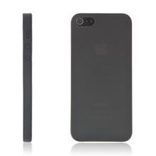 Kryt pro Apple iPhone 5 / 5S / SE - matný - plastový - tenký 0,5 mm - černý