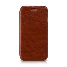 Elegantní flipové kožené pouzdro HOCO pro Apple iPhone 6 / 6S - hnědé