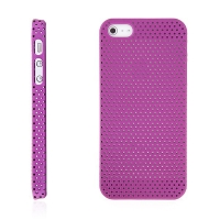 Ochranný plastový kryt pro Apple iPhone 5 / 5S / SE - děrovaný - růžový