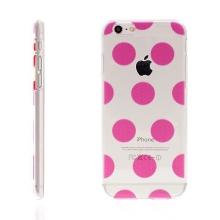 Plastový kryt pro Apple iPhone 6 / 6S - průhledný - růžové puntíky