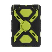 Odolné plasto-silikonové pouzdro se stojánkem a přední ochrannou vrstvou pro Apple iPad mini / mini 2 / mini 3 - černo-zelené