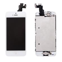 Kompletně osazená přední čast (LCD panel, touch screen digitizér atd.) pro Apple iPhone 5C - bílý - kvalita A