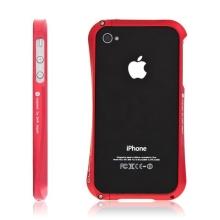 Kvalitní hliníkový bumper Cleave pro Apple iPhone 4S - červený