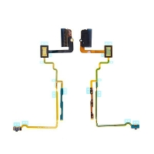 Flex kabel s audio jackem, mikrospínačem power a ovládáním hlasitosti pro Apple iPod nano 7.gen. - černý - kvalita A+