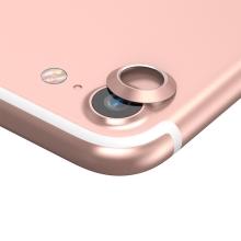 Kroužek / krytka BASEUS na kameru pro Apple iPhone 7 / 8 - kovový - Rose Gold