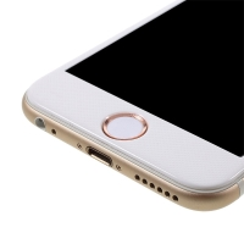 Samolepka na tlačítko Home Button Apple iPhone / iPad - podpora / zachování funkce Touch ID - bílá / růžově zlatá (Rose Gold)