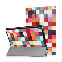 Pouzdro / kryt pro Apple iPad Pro 10,5 - funkce chytrého uspání + stojánek - barevné čtverce