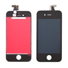Náhradní LCD panel včetně dotykového skla (digitizéru) pro Apple iPhone 4 - černý - kvalita A+