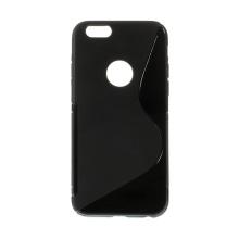 Kryt pro Apple iPhone 6 / 6S gumový výřez pro logo černý