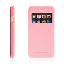 Pouzdro Mercury pro Apple iPhone 6 / 6S - výřez na displej, prostor pro platební karty / doklady - růžové
