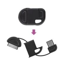 Synchronizační a nabíjecí USB kabel na klíčenku pro Apple iPhone / iPad / iPod - černý