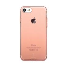 Kryt Baseus pro Apple iPhone 7 / 8 gumový / antiprachové záslepky - Rose Gold průhledný