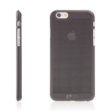 Kryt LOOPEE pro Apple iPhone 6 / 6S - plastový děrovaný - černý