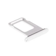 Rámeček / šuplík na Nano SIM pro Apple iPhone Xr - stříbrný (Silver) - kvalita A+