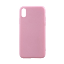 Kryt pro Apple iPhone X - ultratenký - gumový - růžový