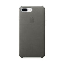 Originální kryt pro Apple iPhone 7 Plus / 8 Plus - kožený - bouřkově šedý