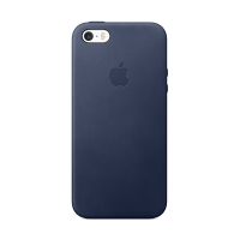 Originální kryt pro Apple iPhone 5 / 5S / SE - kožený - půlnočně modrý