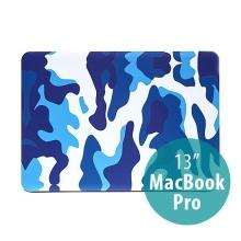 Plastový obal ENKAY pro Apple MacBook Pro 13 - maskáč - modrý