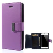 Vyklápěcí pouzdro - peněženka Mercury pro Apple iPhone 6 / 6S - s prostorem pro umístění platebních karet - fialové